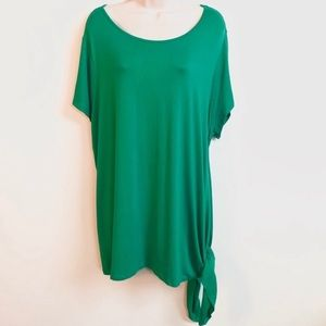 🆕 Cato side tie green short sleeve blouse …